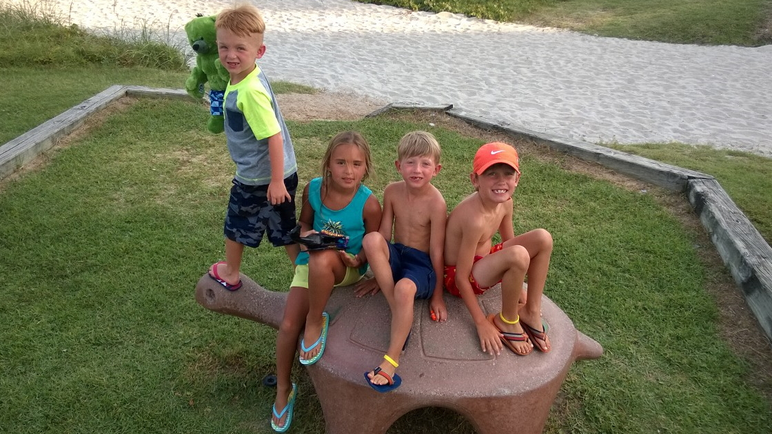 Four Grand Children at Myrtle Beach